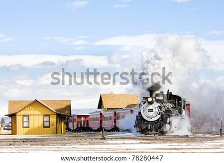 Stockfoto: Smal · spoorweg · Colorado · USA · wiel