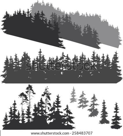 Photo stock: Résumé · hiver · silhouettes