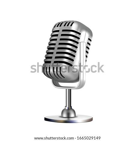 Uitstekende Microfoon In 3d Stockfoto © pikepicture