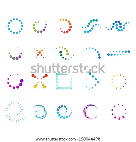 Abstrato círculo colorido pontilhado redemoinho onda Foto stock © bharat