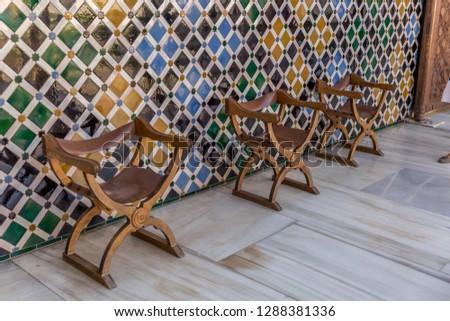 アルハンブラ宮殿 壁 デザイン 窓 パターン 建物 ストックフォト © billperry