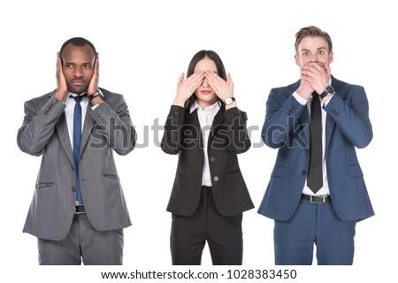 businesswoman   hear no evil stock photo © dgilder