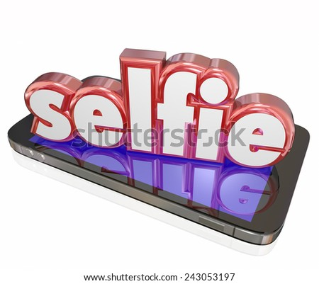 No Selfies 3d Word Self Portraits Digital Camera Phone Social Me Stock photo © iqoncept
