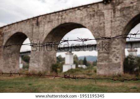 bridge viaduct in the Carpathians Stock photo © OleksandrO