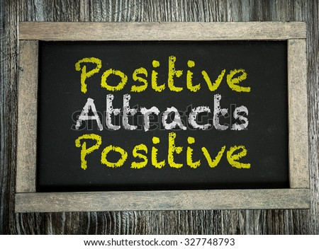 'think positive be positive' motivation quotation written on fra Stock photo © SArts