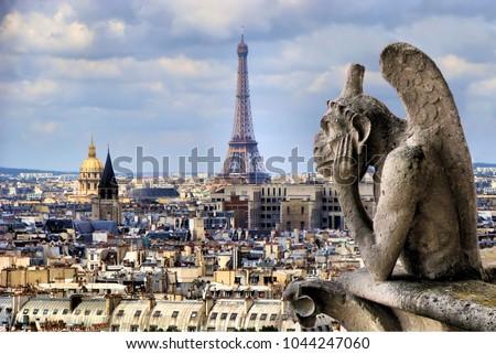 Izlerken gün batımı Paris gökyüzü kilise Stok fotoğraf © hsfelix