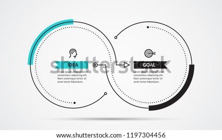 Dois passos opção modelo círculo Foto stock © SArts