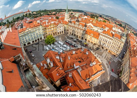 View of Lesser Quarter Square (Mala Strana) from Church of Saint Stock photo © Kirill_M