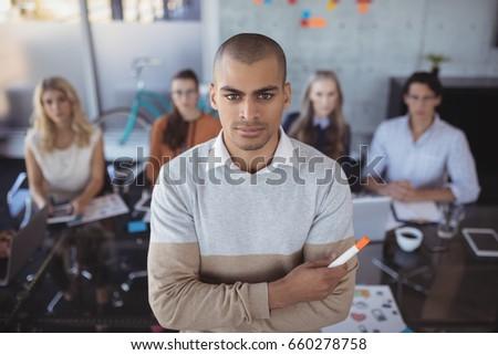 Retrato empresário ponta caneta equipe Foto stock © wavebreak_media