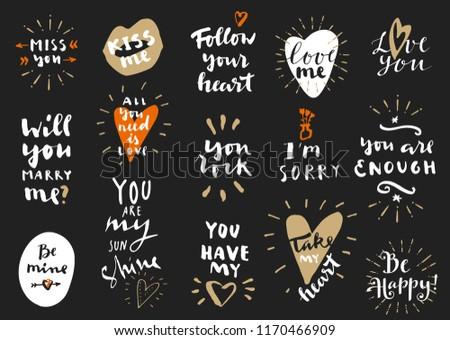 valentine · dia · tipografia · vetor · foto · inspirado - foto stock © jeksongraphics