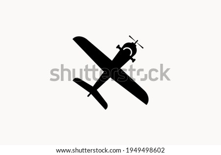 Private turbo propeller airplane isolated icon Stock photo © studioworkstock