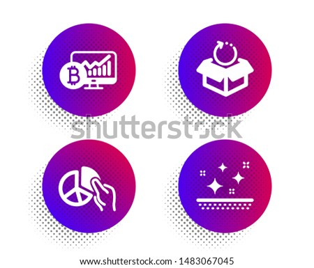 Bitcoin bens empacotar ícone produto vetor Foto stock © popaukropa