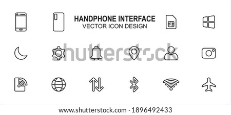 wifi connection signal icon with gear or settings icon in the circle vector illustration isolated o stock photo © kyryloff