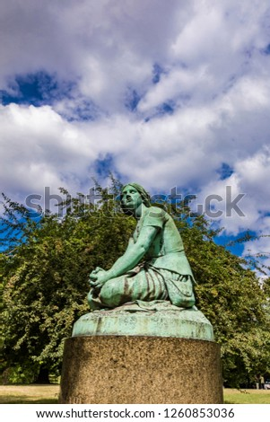 Replica of Joan of Arc statue designed by Henri Chapu at Ørsted Stock photo © boggy