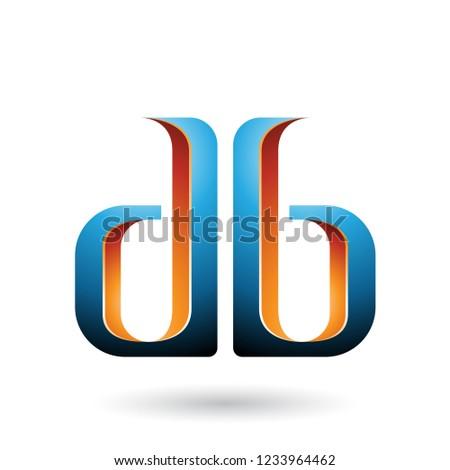 brief · Blauw · oranje · logo · iconen · ontwerp - stockfoto © cidepix