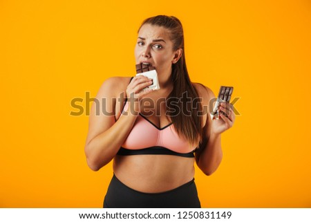 Porträt mollig Frau BH tragen Stock foto © deandrobot