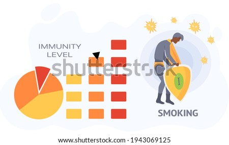 мальчика курение сигарету нездоровый диаграмма иллюстрация Сток-фото © colematt