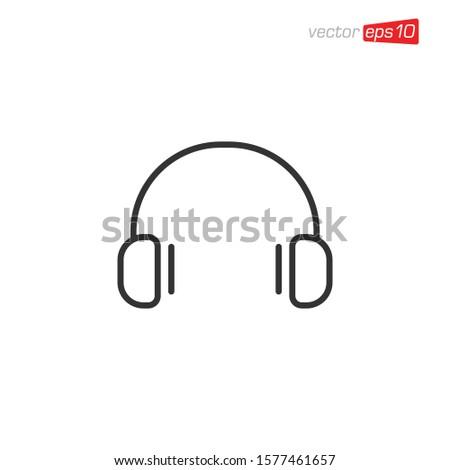 ヘッドホン アイコン デザインテンプレート ベクトル グラフィックデザイン テンプレート ストックフォト © haris99
