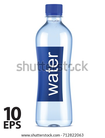 Realistic plastic bottle with mineral water isolated on white background Vector illustration Stock photo © MarySan