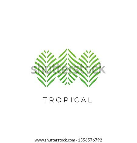 Nyár illusztráció tutaj trópusi pálmalevelek víz Stock fotó © articular