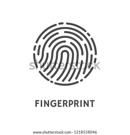 Impressão digital forma reconhecimento único humanismo padrões Foto stock © kyryloff