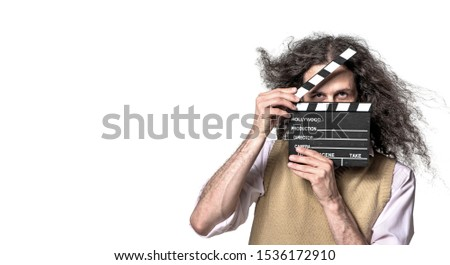 Portrait homme blanche vide Guy Photo stock © majdansky