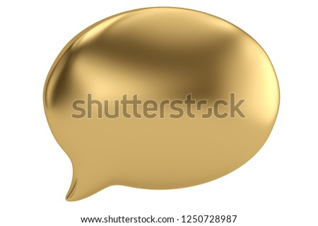 metallic bubble speak on white background. Isolated 3D illustrat Stock photo © ISerg