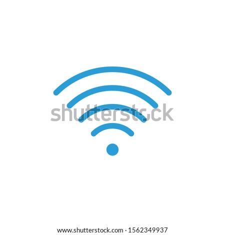 Wifi segnale indicatore alto completo semplice Foto d'archivio © kyryloff