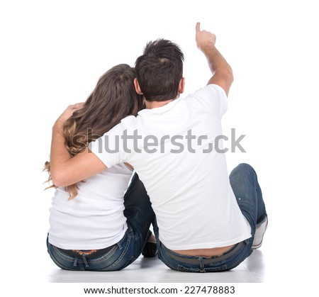 Side view of happy young Caucasian couple standing at promenade while having ice cream cone. They ar Stock photo © wavebreak_media