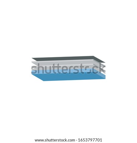 Quatre couche structure illustration 3D perspectives Photo stock © kyryloff
