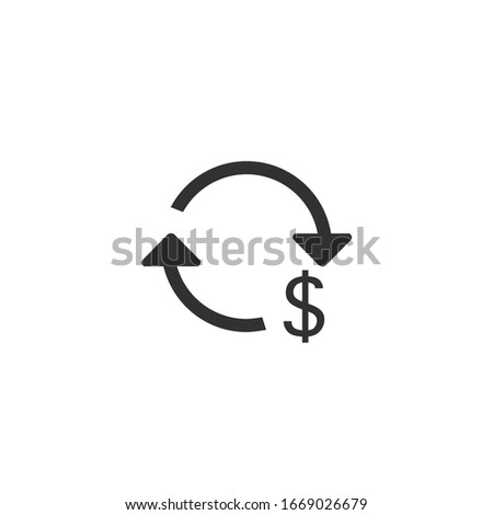 Money convert, cirle arrows with dollar sign. Stock Vector illustration isolated on white background Stock photo © kyryloff