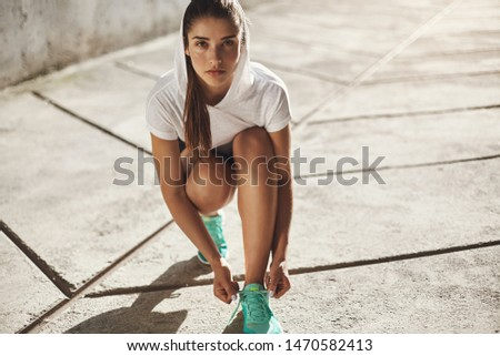 Motivation, lifestyle and sport concept. Serious-looking determined handsome young masculine man in  Stock photo © benzoix