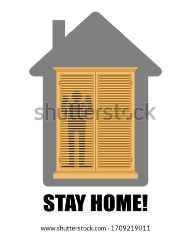 Quarantine from virus. Man inside in closet Isolation from coron Stock photo © popaukropa