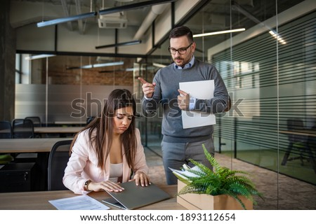Young female employee being fired from her work Stock photo © Elnur
