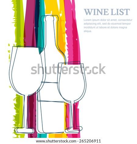 Fles wijn wijnglas tekst club glas Stockfoto © Arkadivna