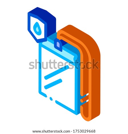 Waterproof Material Thing Cover isometric icon vector illustration Stock photo © pikepicture