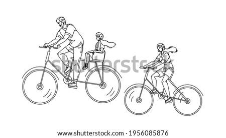 Noir fille équitation vélo parc Photo stock © robuart