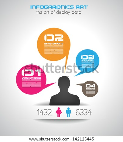 Original style infographic with man shapes for ranking purposes.  Stock photo © DavidArts