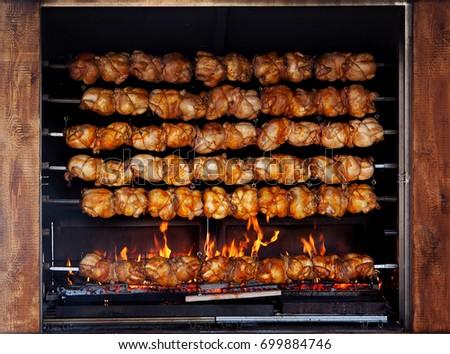 geroosterde · kip · vlees · aardappel · voedsel · kip · diner - stockfoto © taden