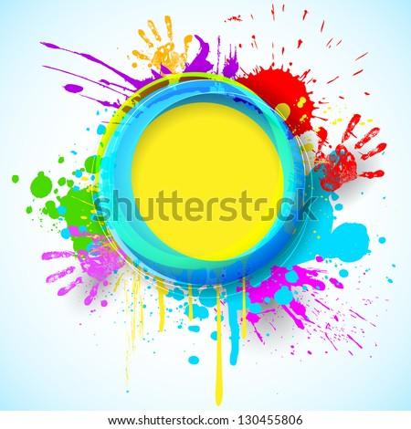 Gulal for holi background grunge of colorful wave illustration v Stock photo © bharat