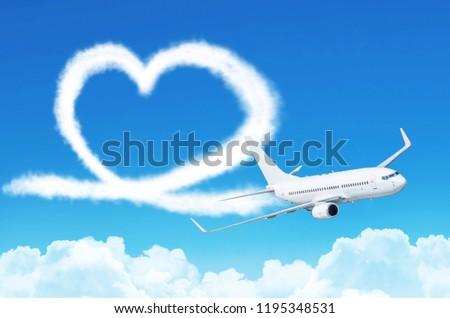 中心 雲 ロマンチックな 天国 愛 ストックフォト © stuartmiles