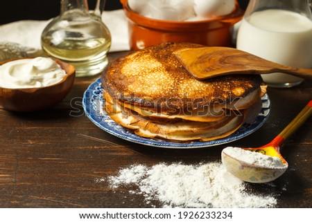 パンケーキ 栗 小麦粉 典型的な トスカーナ 伝統 ストックフォト © marcoguidiph