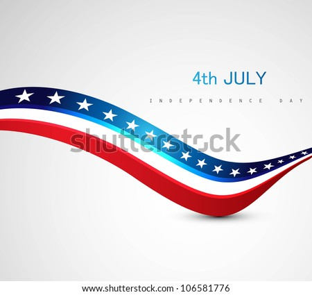 American independence day 4th of july fantastic wave background  Stock photo © bharat