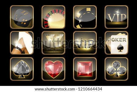 Casino banner with ruby diamonds poker element, vector illustration Stock photo © carodi