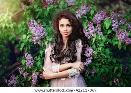 moda · stylu · studio · Fotografia · cute · brunetka - zdjęcia stock © victoria_andreas
