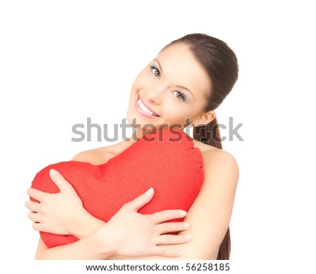 feliz · amor · morena · menina · balões · buquê - foto stock © victoria_andreas
