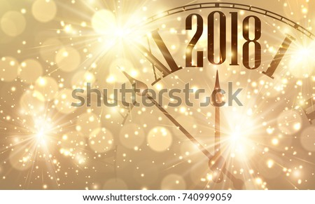 Merry Christmas and Happy Golden New 2018 year wallpaper, vector illustration Stock photo © carodi