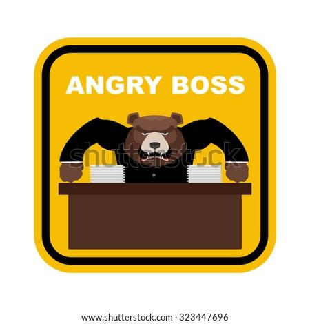 Stockfoto: Scary · beer · baas · boos · sticker · kantoor