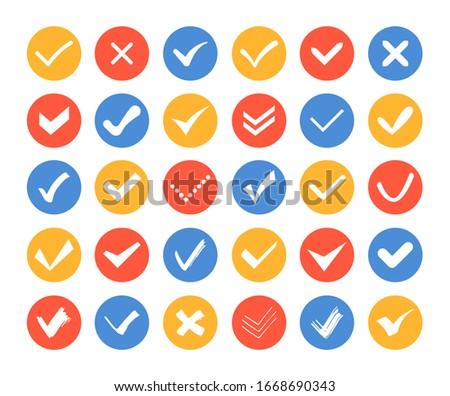 right mark round vector web element circular button icon design stock photo © rizwanali3d