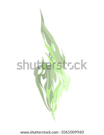 Dymu zielone odizolowany chemicznych wektora ognia Zdjęcia stock © popaukropa